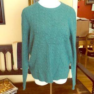 Teal Ralph Lauren NWT Wool Angora Sweater L